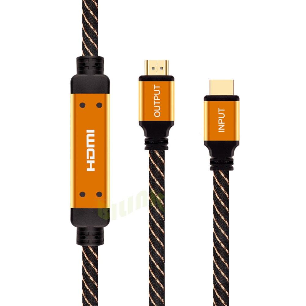 25 m 30 m 35 m 40 m 50 m 60 m 1080 p 3D HDMI Câble Premium Or Plaqué nylon Tressé Câble construit en IC Ethernet pour HDTV PC Projet
