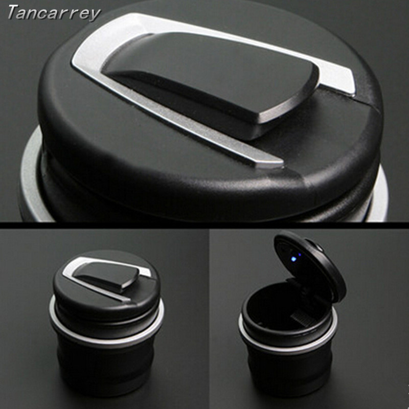 2017 new Car styling LED sticker ashtray for Kia Rio K2 K3 5 Sportage Ceed Sorento Cerato Soul Buick Hyundai Tucson Accessories цена 2017