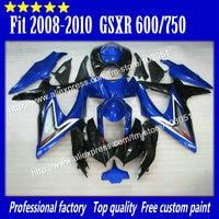 high grade for 2008 SUZUKI GSXR 600 fairings 2009 2010 GSXR 750 fairing K8 08 09 10 glossy dark blue with black su84
