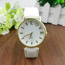 SmileOMG    New Woman Love Pattern Leather Band Analog Quartz Vogue Wrist Watch,Aug 18
