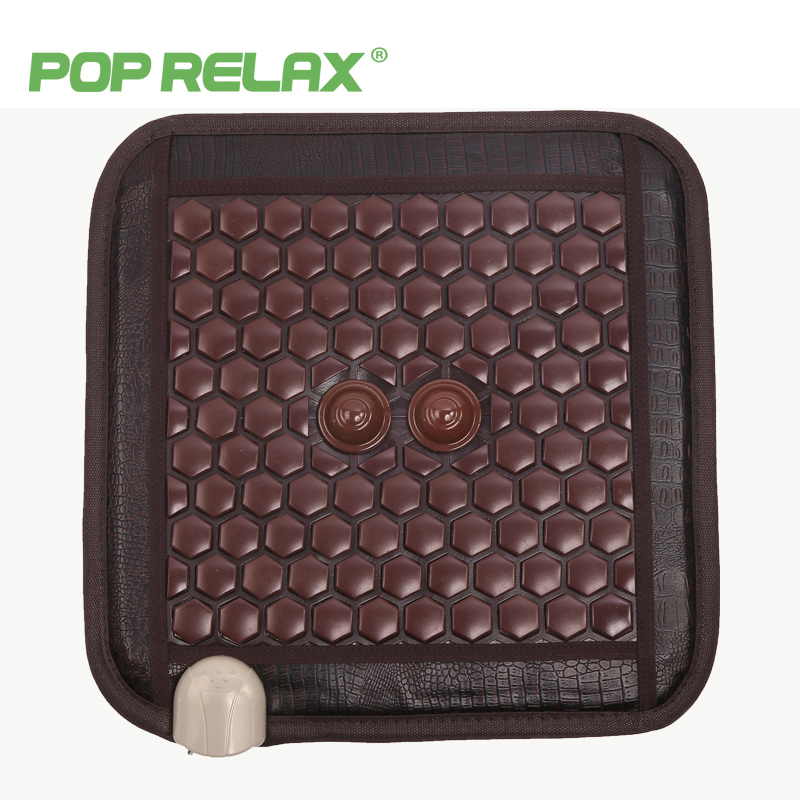 POPRELAX thermotherapy stone medical seat mattress haemorrhoid patient ion jade chair cushion health massage pad mat tools 4545 hthl chinese health care colored plastic walk stone square healthy foot massage mat pad cushion