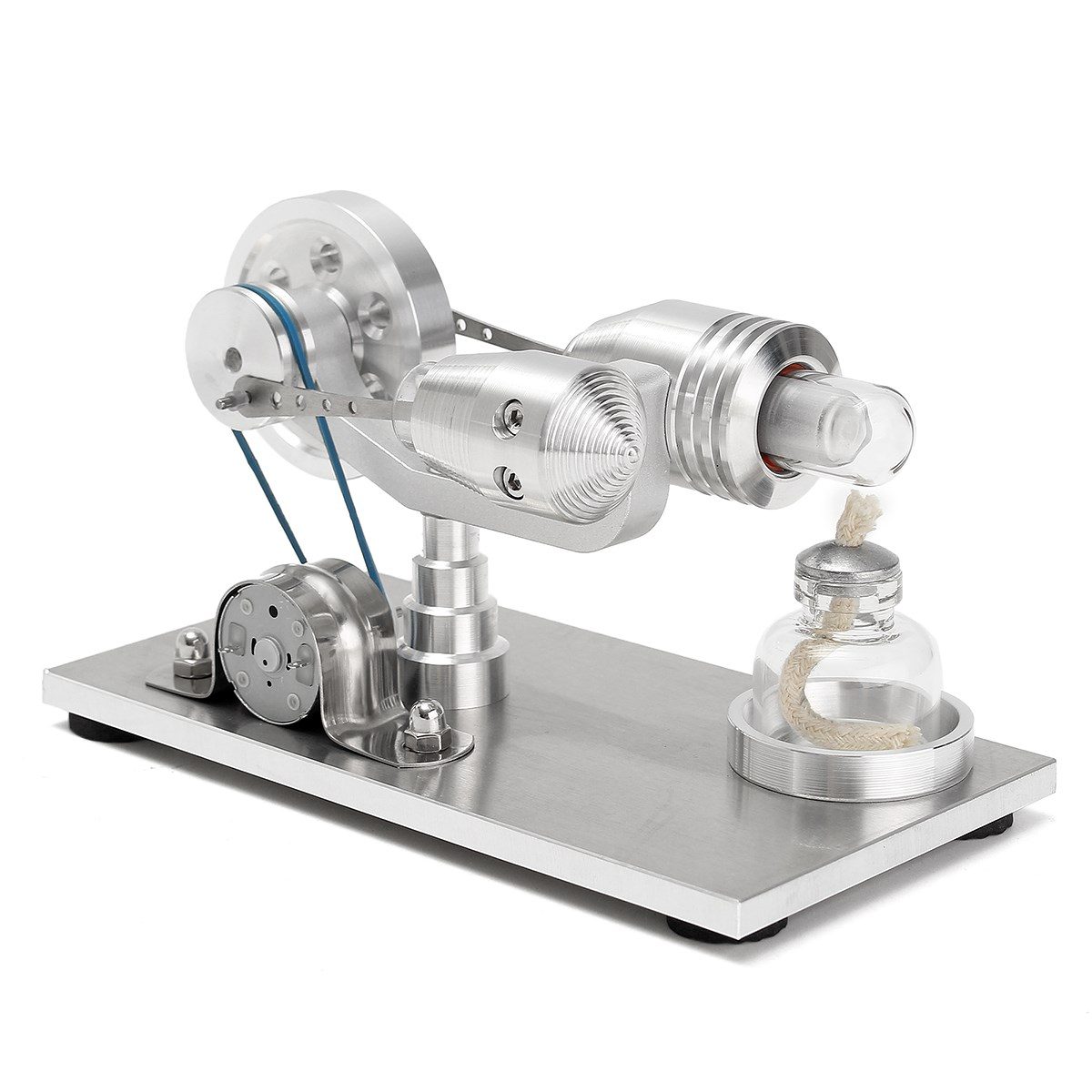 New Arrival Stainless steel Mini Hot Air Stirling Engine Motor Model Educational Toy Science Experiment Kit Set For Chuldren jiangdong engine parts for tractor the set of fuel pump repair kit for engine jd495