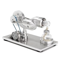 New Arrival Stainless steel Mini Hot Air Stirling Engine Motor Model Educational Toy Science Experiment Kit Set For Children