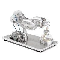 Nowy Przyjazd Ze stali Nierdzewnej Mini Hot Air Stirling Silnika Silnik Modelu Zabawki Edukacyjne Nauka Eksperyment Kit Zestaw Do Chuldren