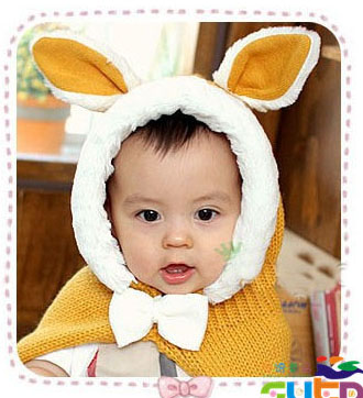 Babys Beanie 2015 New Rabbit Ears Ear Warmers Wool Line Cap Babies Hats Winter Multi-Color Babies Photo Props Babys Beanie