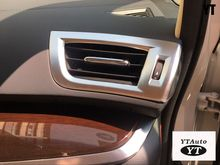 Auto inerior accessories, air vent intake trim sticker  for toyota Alphard 2016,ABS chrome ,1pcs