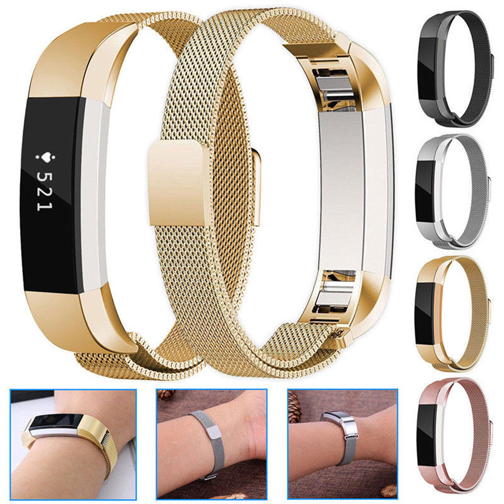 Strap Bracelet Watch-Strap Wrist-Band-Accessorie Replacement Smart-Watch Fitbit Stainless-Steel