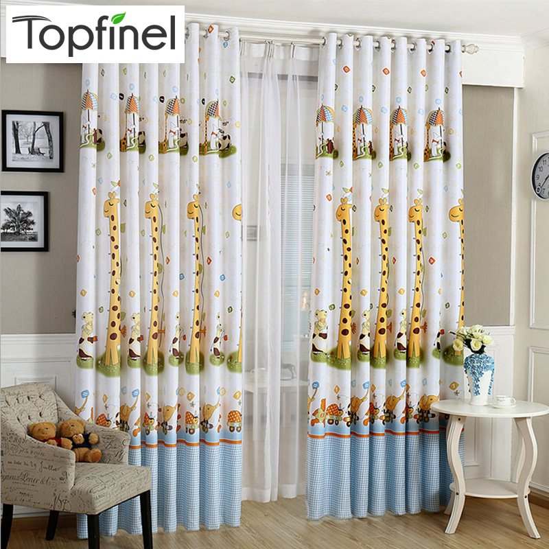 2015 giraffe pattern modern shade blinds thick window blackout curtains for children living room the bedroom kids fabric rideaux