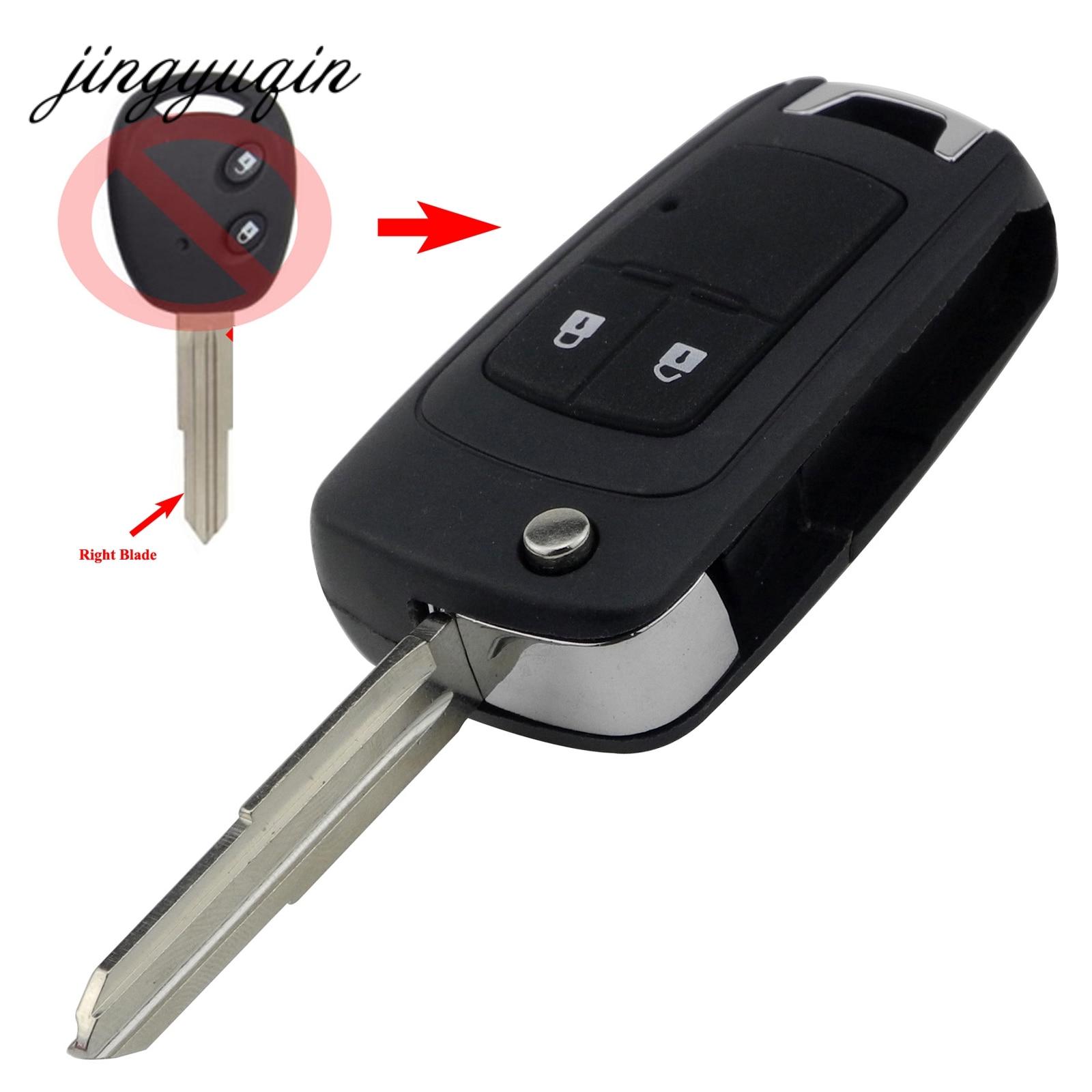 Jingyuqin 2 Taste Geändert Schlag Fernautoschlüsseloberteil Geeignet Für Chevrolet Cruze Aveo Auot Schlüsseletui