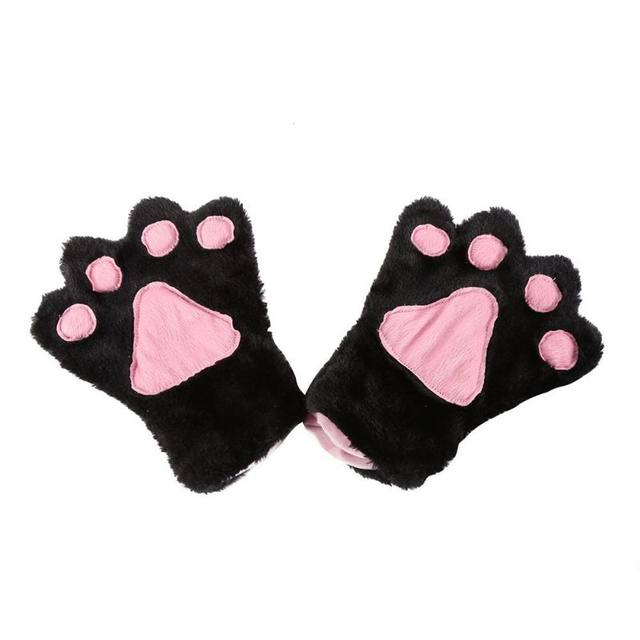 Women Winter Lovely Anime Cute Cosplay Costume Cat Ears Plush Paw Claw Gloves Tail Bow-tie Girls Gifts Kawaii Chic Style  sc 1 st  Aliexpress & Online Shop Women Winter Lovely Anime Cute Cosplay Costume Cat Ears ...