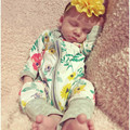 2017 nueva ropa de la muchacha del algodón niños de una piezas trajes de pijamas bebé recién nacido niños ropa trajes bebes envío gratis PPY-143