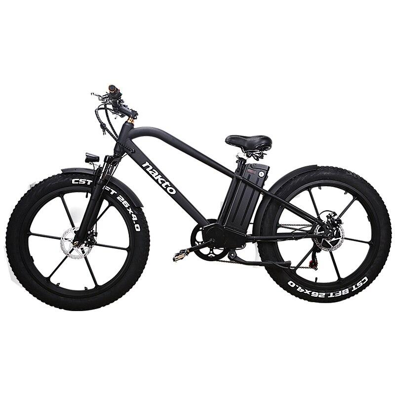 26 pouces Graisse e-vélo 48V500W neige vélo électrique batterie au lithium mountian vélo 4.0 pneus plage VTT 3.5 LCD mètre hors-route