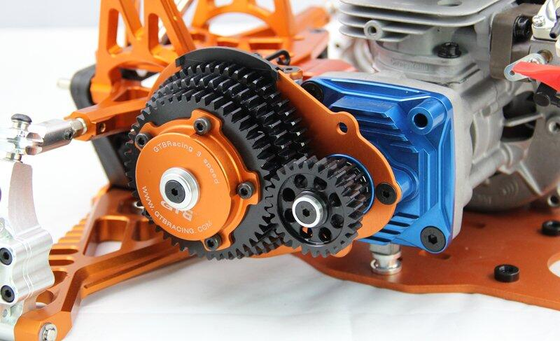Three-speed  For 1/5 HPI Baja  5B  5T 5SC alloy front hub carrier for 1 5 hpi baja 5b 5t 5sc