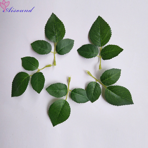 40pcs Artificial Silk Rose Leaves Artificial Greenery For Wedding Decor DIY Floral Craft Bouquet Garland Flower Crafts Supplies(China)