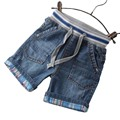 Children Boys Denim Shorts 2017 Summer Paragraph Children's Clothing Fashion Washed Jeans Plaid Flanging Denim Shorts