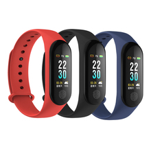 factory new M3 Plus Smart Wristband Multi-Sports Blood Pressure Bracelet Heart Rate Monitor V Xiao/mi Mi Band 3