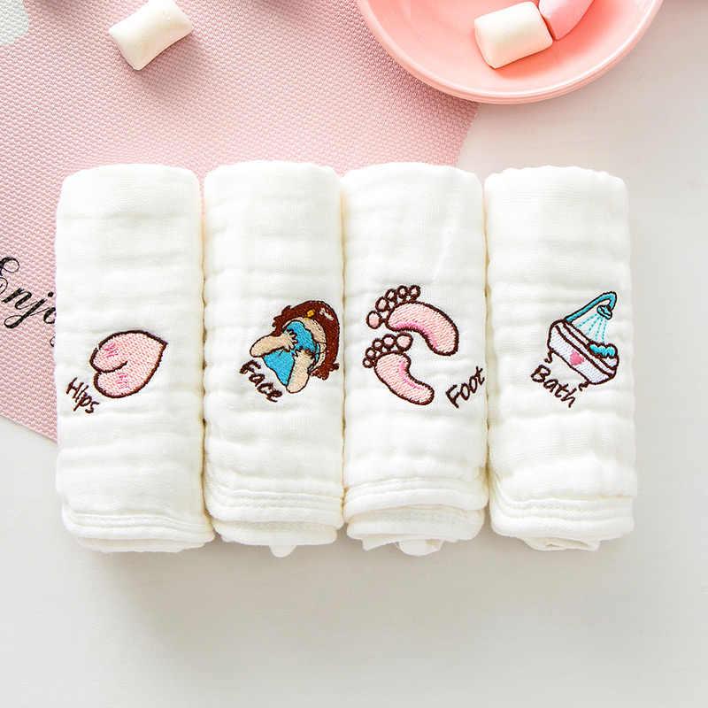 1 pçs * 6 camadas de algodão gaze toalha de rosto do bebê macio toalhas de pano de lavagem lenços de bebê infantil alimentação toalhas de saliva 30*30cm