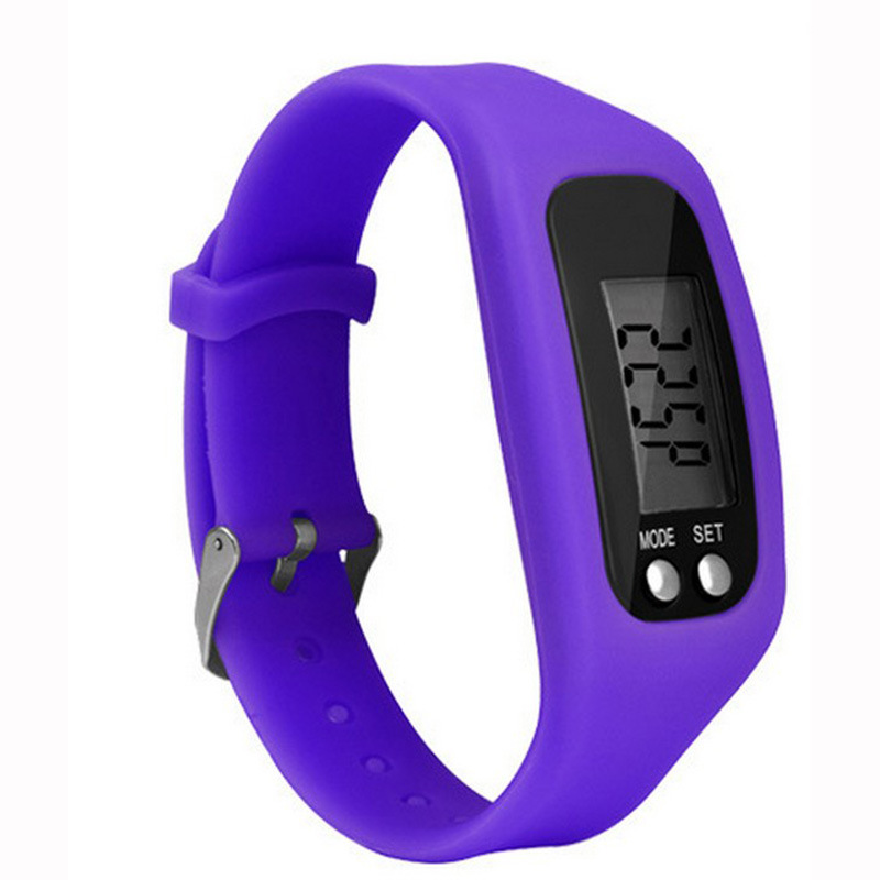 Hot Style Multifunctional Silica Gel Electronic Kids Watch  Outdoor Sports Watch Creative Pedometer Children Watch