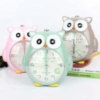 Cute Owl Creative Luminous Alarm Clock Watch Music Student Alarm Clock Birthday St. Child Decoration