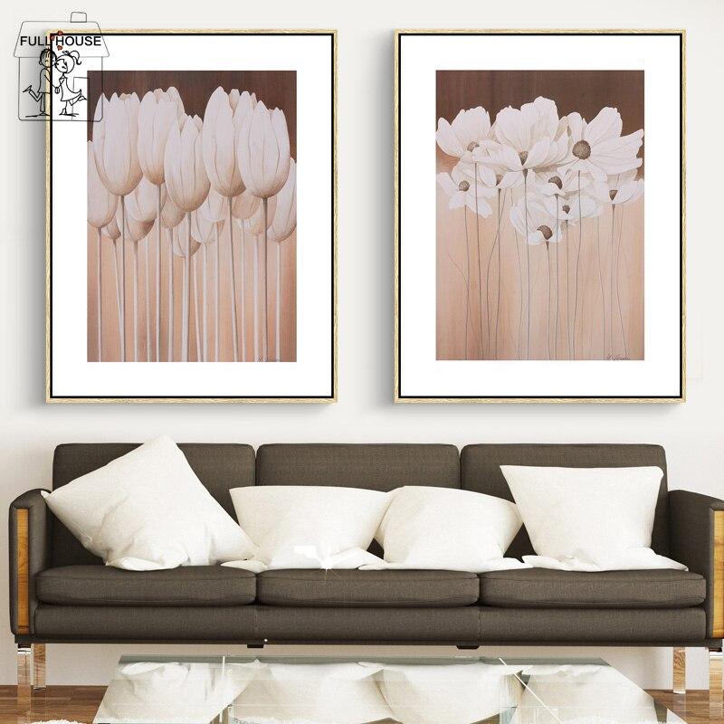 FULL HOUSE Stile Moderno Muro Dipinto Per Soggiorno HD fiori ...
