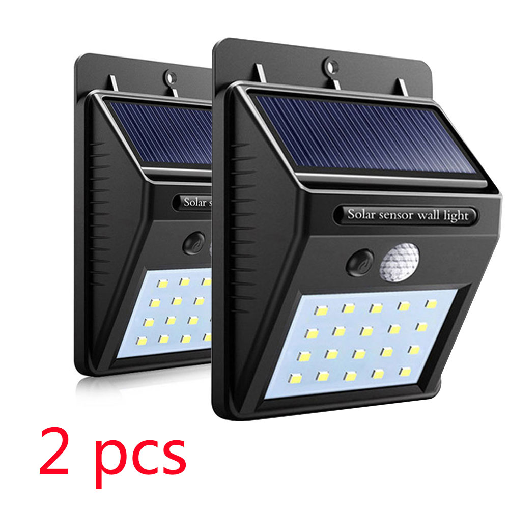2pcs 20/30LED Solar Light Sensor Auto Motion Wall Waterproof Outdoor Garden Street Public Road Night Bulb Wall Flashlight Light