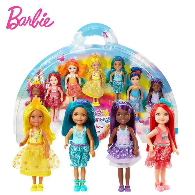 Barbie dolls Dreamtopia Rainbow Cove 7 Doll Toy For children Girl Birthday Children Gifts Fashion Figure