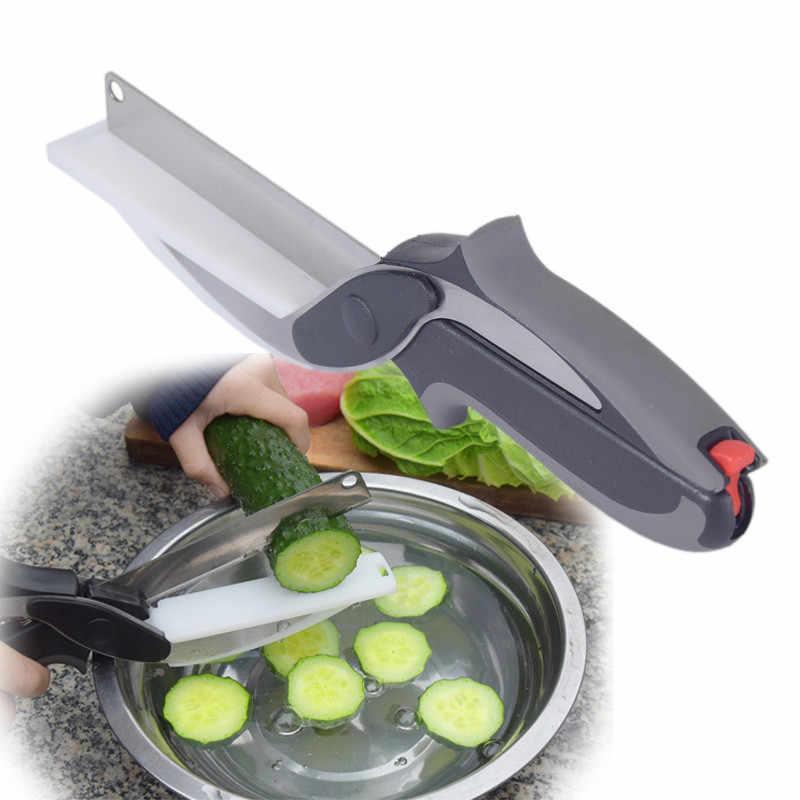 2 в 1 съемные Многофункциональные кухонные ножницы резак нож из нержавеющей стали кухонные ножи мясо картофель сыр, овощи