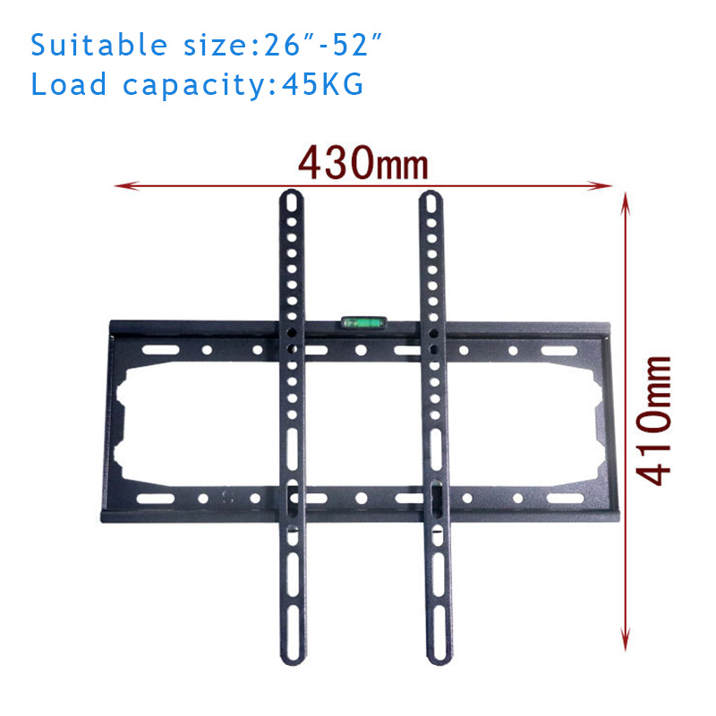 Newest Universal Adjustable TV Mount Bracket Wall Hanging LED Falt Panel Plasma TV Set Holder Fit For 26-55 Inch LCD new universal adjustable tilt tilting tv wall mount bracket for samsung lcd led plasma max 165 lbs 23 37inch