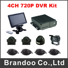 4 Channel Car DVR MDVR 720P Mobile DVR Complete Kit For Truck