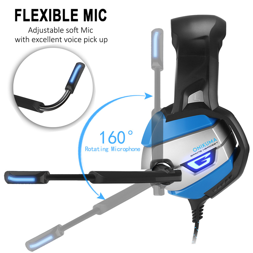 3.5mm Wired Headphone Gaming Noise Canceling Headphones Game for Computer Soft Big Earbud Headphone Gamer USB LED Black Blue superlux hd 562 omnibearing headphones noise canceling monitoring rotatable