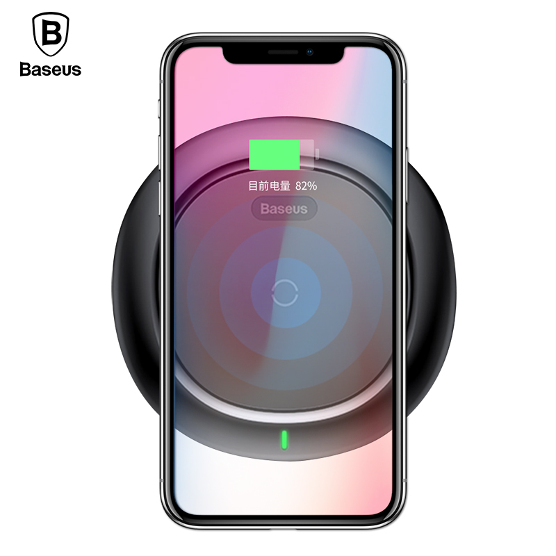 Baseus Qi Wireless Charger For iPhone X 8 Plus Samsung S9 S8 S7 S6 Edge Note 8 Fast Charging Desktop QI Wireless Charging Pad