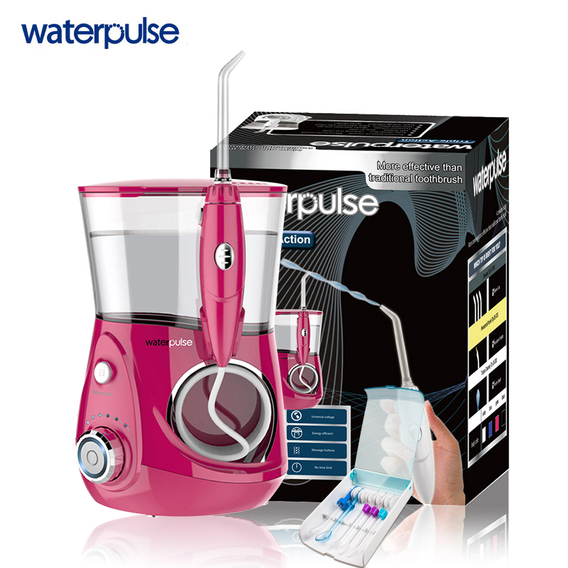 Waterpulse V660R Professional Oral Irrigator Dental Flosser Rechargeable Jet Water Oral Care Family Pack Teeth Cleaner Oral Care 3 pack advanced oral care senior dental kit size small dog catalog category dog health care