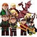 9 Unids de El Señor de los Anillos Hobbit LA MONTAÑA SOLITARIA La Desolación de SMAUG Dragón Figuras Ensamblan Juguetes Bloques de Los Niños regalos