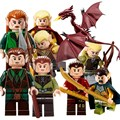 9Pcs The Lord of the Rings Hobbit THE LONELY MOUNTAIN Desolation of SMAUG Dragon Figures Assemble Blocks Kids Toys Gifts
