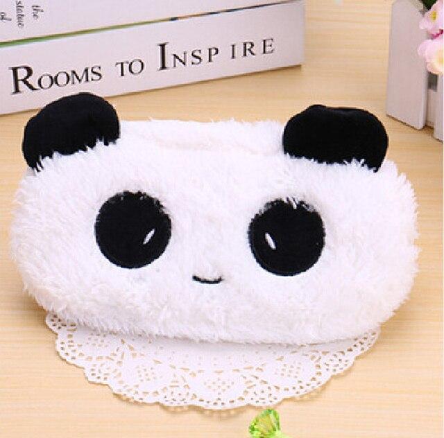 Kawaii 21*10 CM Plush Fluffy Panda SACO de Moeda, SACO da moeda Bolsa Caso; Bolso Chaveiro Bolsa Da Moeda Da Carteira Caso Bolsa