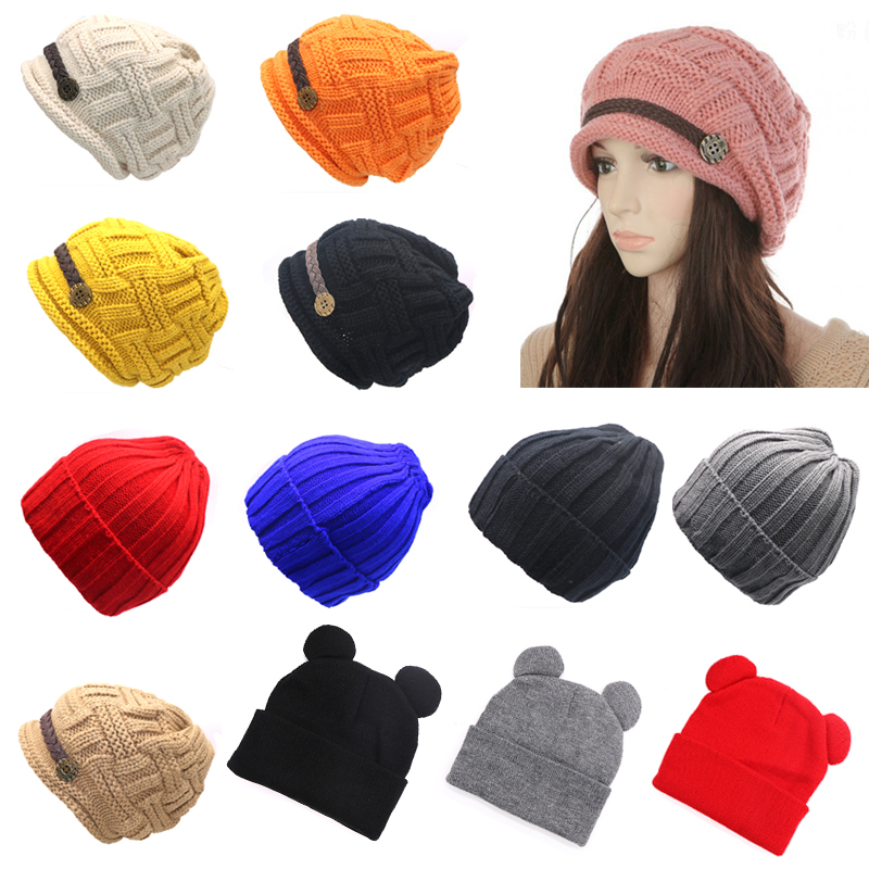 Hat Female Winter Hats for Women   Beanies   Knitted Solid Cute Hat Girls Autumn Lady   Skullies     Beanie   Caps Warmer Bonnet Casual Cap