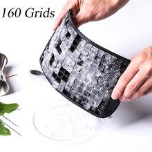 24 см* 12 см* 1 см DIY Эко-дружественные конфеты 160 сетки силиконовые кубики льда лоток мини кубики льда маленькие квадратные формы для льда Новинка