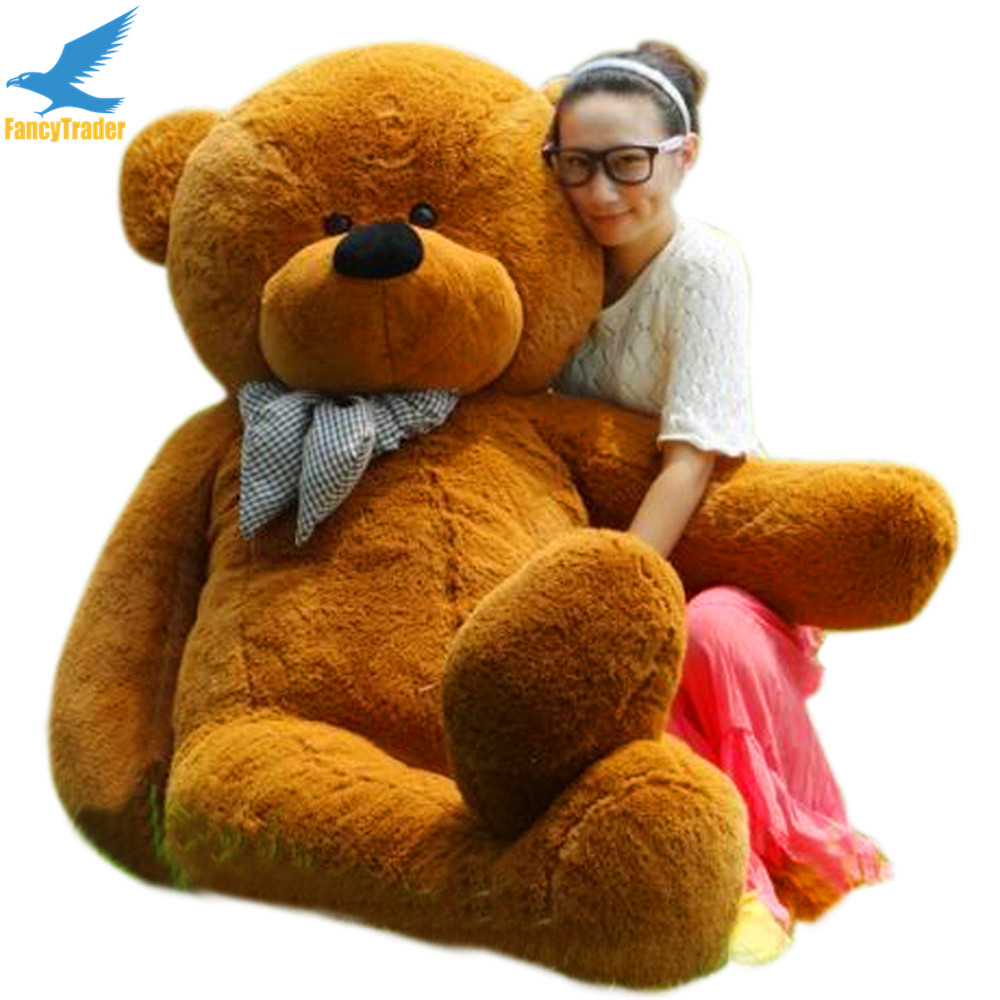 Fancytrader Giant Teddy Bear 4 Colors Available 78 INCHES (200cm) Free Shipping FT90056 fancytrader new style 47 120cm lovely giant stuffed plush funny teddy bear toy 4 colors available free shipping ft50855