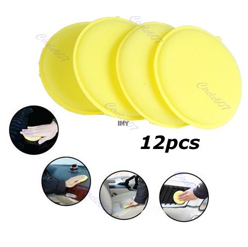 Image 2 - 12pcs/pack Waxing Polish Wax Foam Sponge Applicator Pads For Clean Car Vehicle Glass car styling INY