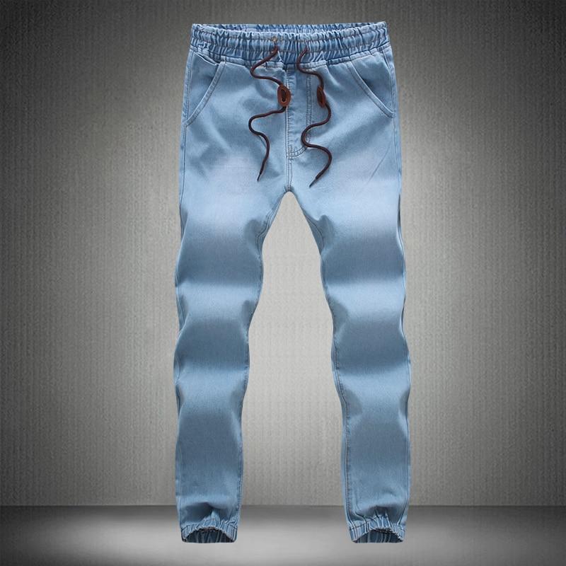 2018 New Men's Fashion Boutique Premium Blue Casual   Jeans   Male Pants Men's Harem Pants Japanese Trousers Slim Fit   Jeans