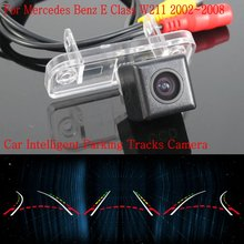 Автомобиль Интеллектуальные Парковка Треки Камеры ДЛЯ Mercedes Benz E Class W211 2002 ~ 2008 Резервного копирования Камера Заднего Вида/Камера Заднего вида HD CCD