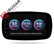 Isudar Car Multimedia Player Car Radio GPS Android 8.0 For Mercedes/Benz/SMART 2016 OBD2 Bluetooth USB DVR Rear View Camera DAB