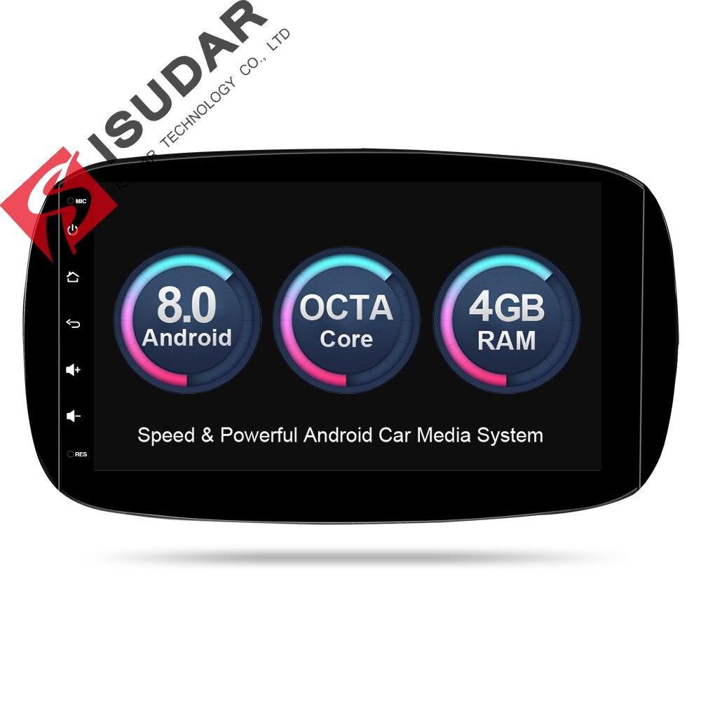 Isudar Voiture Multimédia Lecteur Autoradio GPS Android 8.0 Pour Mercedes/Benz/SMART 2016 OBD2 Bluetooth USB DVR arrière Vue Caméra DAB