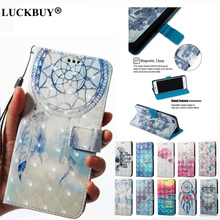LUCKBUY Case For OPPO R9S R11 3D Cute Cartoon Unicorn Leather Flip Funda Cover A57 A59