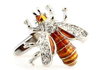 Men Jewelry Novelty Bee Shape Cufflinks High Quality Mens Wedding Groom Party Shirt Dress Sleeve Cuff