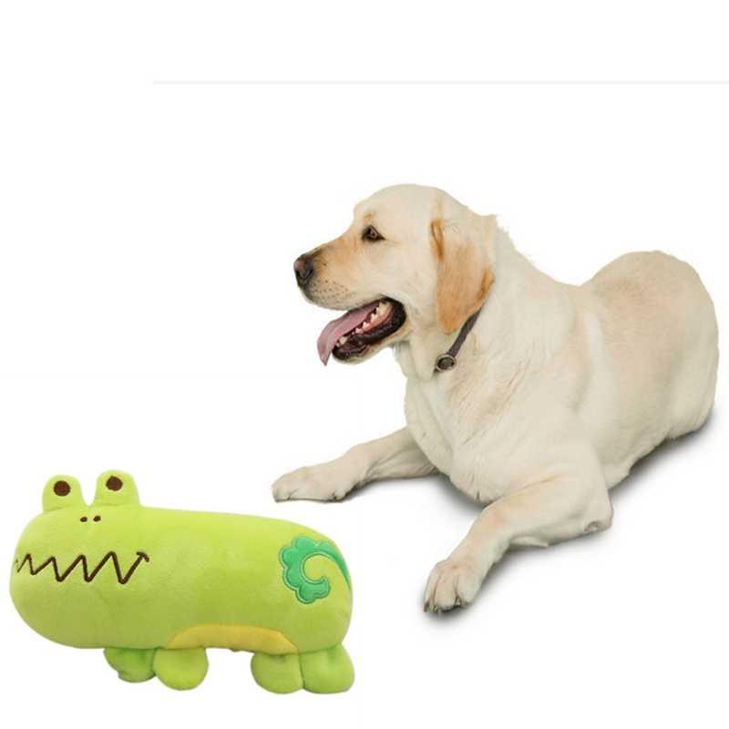 Wholesale Supply Cartoon Hippo Pig Frog Plush Sound Toys Pet Pillow Pet  Supplies Chew Squeak Plush Dog Cat Toys Gift
