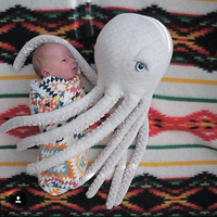 50*15cm Octopus Plush Toy Stuffed Animal Soft Dolls Kids Gift Appease Baby Pillow Baby Toys Children Room Bedding Decoration Toy