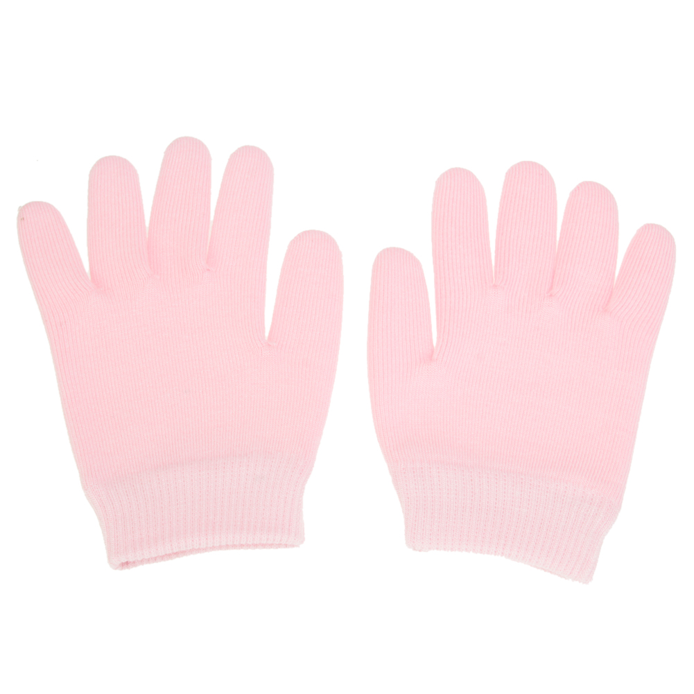1 Pair Pink Glove Whiten Skin Moisturizing Treatment Gel SPA Gloves Hand Mask Care Gel SPA Gloves Moisturizing Treatment unisex slim household washing clean pvc glove pink white size s pair