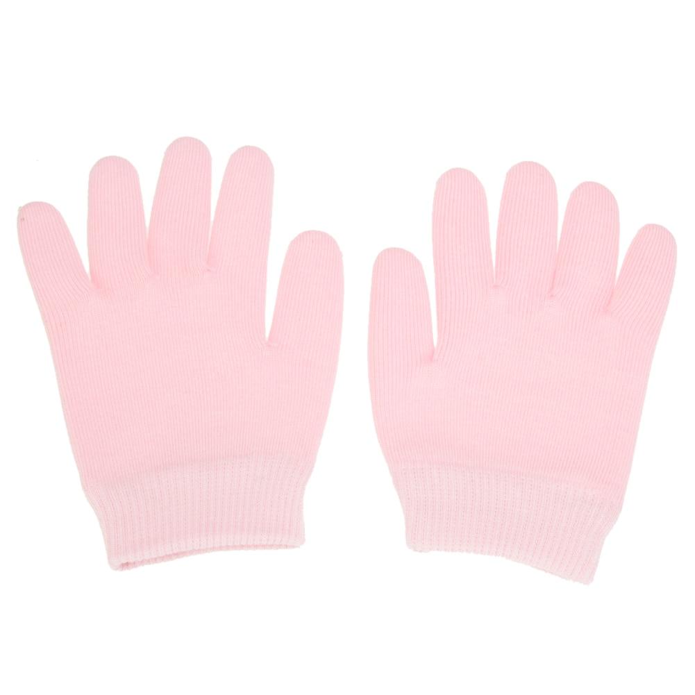 1 Pair Pink Glove Whiten Skin Moisturizing Treatment Gel SPA Gloves Hand Mask Care Gel SPA Gloves Moisturizing Treatment elegant prevent bask cotton gloves for women pink pair