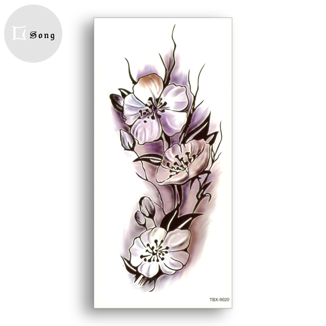 Waterproof Tattoo Stickers Temporary Fake Tattoos Girl Women Sexy Flower Body Art Cosmetic Ornaments One-time Spending Stickers